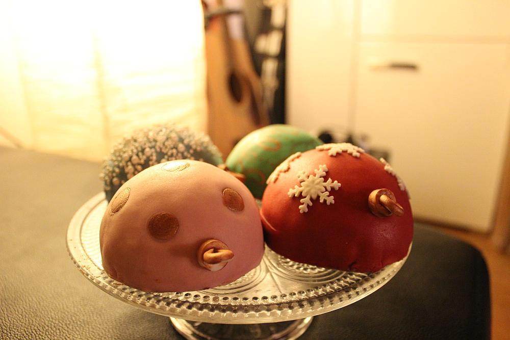 Christbaumkugel Muffins Weihnachtsgebäck